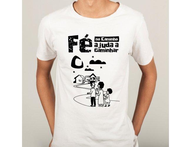 Camiseta Fé no Caminho ajuda a caminhar
