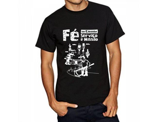 Camiseta Fé no Caminho serviço e missão