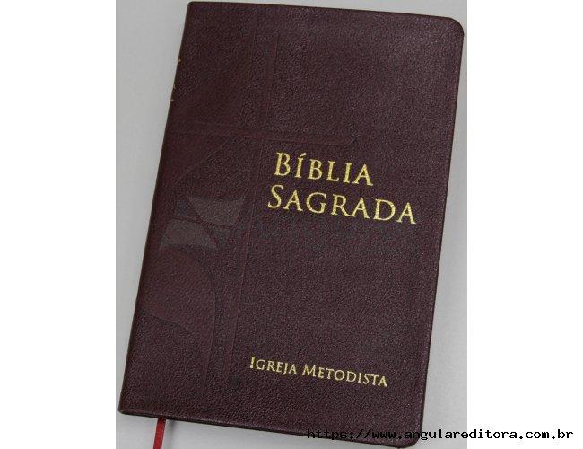 Bíblia com a Cruz e Chama - Capa Vermelha